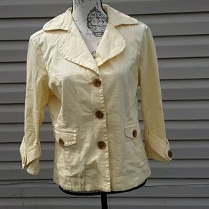 Live a little yellow size med jacket